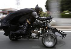 El misterioso Batman en moto que causa sensación en Japón