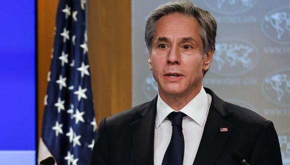 Antony Blinken, secretario de Estado de Estados Unidos. (Foto: CARLOS BARRIA / POOL / AFP).