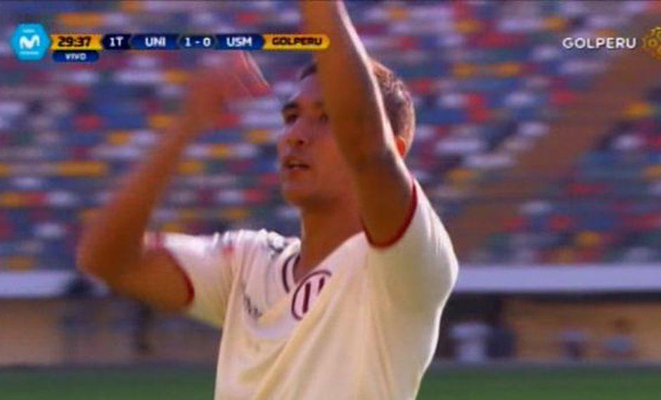Roberto Siucho abrió el marcador con un gran cabezazo | Foto: captura