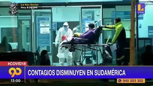 Coronavirus: Contagios de COVID-19 disminuyen en Sudamérica