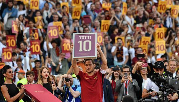 Francesco Totti jugó toda su carrera en la Roma. (Foto: AFP/Vincenzo PINTO)