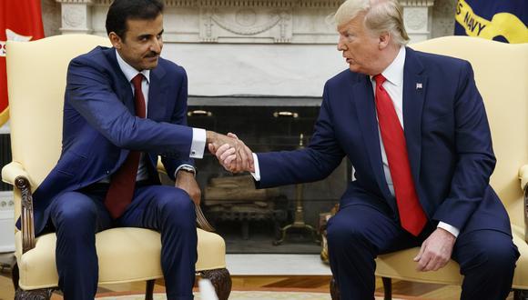 El emir de Qatar, Tamim bin Hamad al Zani, conversó con Donald Trump sobre la posibilidad de mediar en la disputa entre Estados Unidos e Irán. (AP)