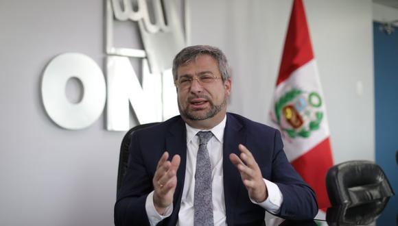 Piero Corvetto, jefe de la ONPE, se presentó ante la Comisión de Fiscalización del Congreso (Foto: Anthony Niño de Guzmán / El Comercio)
