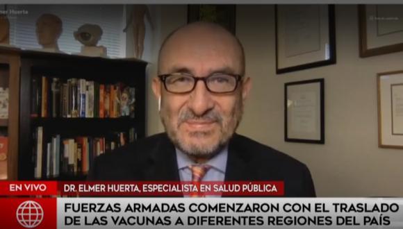 El Doctor Huerta se mostró positivo ante una posible mejora en el ritmo de vacunaciones en el mundo. (Captura / América Noticias)