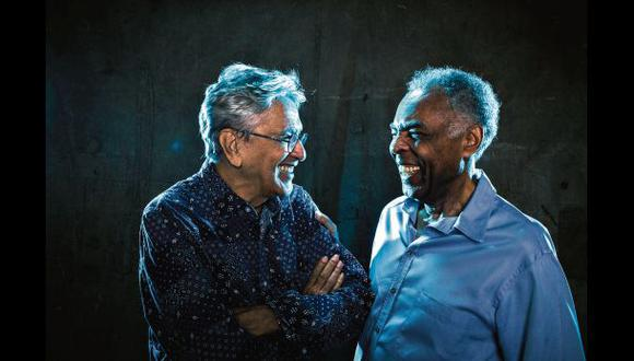 Veloso y Gil, dos leyendas de la música popular brasileña. Comparten más de 50 años de carrera musical.