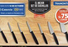 SET DE CUCHILLOS TRAMONTINA para los profesionales de la cocina en casa.