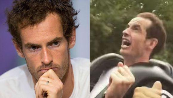 Andy Murray bromeó diciendo que no tuvo miedo durante su paseo en la montaña rusa. (Video: YouTube)