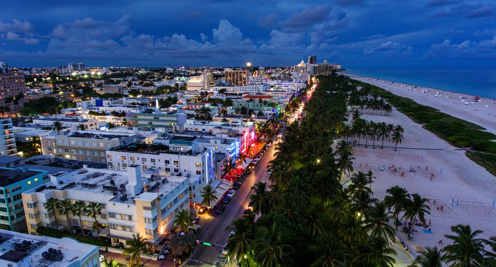 En el paseo marítimo de Ocean Drive, en Miami,habrá fiestas al aire libre (desde US$100).(Foto: Shutterstock)