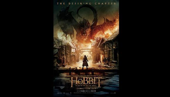 "El primer póster de ""El Hobbit: La batalla de los 5 ejércitos"""