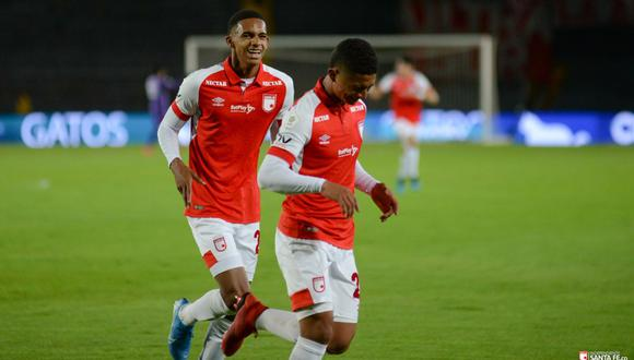 Santa Fe empató con Deportivo Cali en el Campín. (Foto: Independiente Santa Fe)
