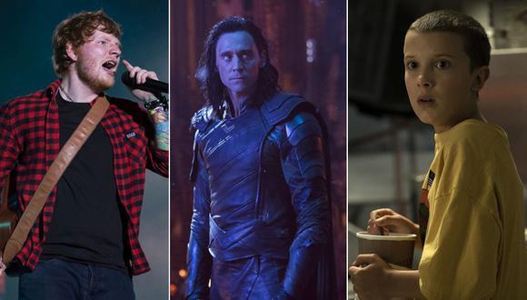 """Ed Sheeran, """"Avengers: Infinity War"""" y """"Stranger Things"""" entre los nominados a los Teen Choice Awards 2018. (Fotos: Agencias)"""
