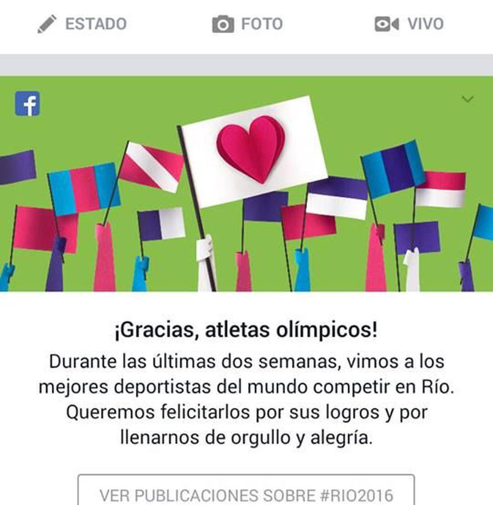 Así se despide Facebook de los Juegos Olímpicos Río 2016 - 2