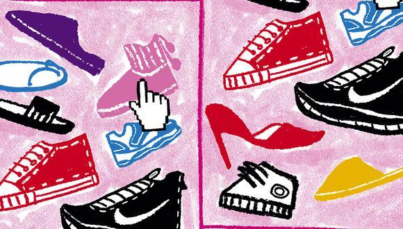El calzado para oficina o elegante ha sido dejado de lado, y se ha priorizado la comodidad y lo deportivo. La tendencia podría revertirse o equilibrarse hacia el 2022. (Ilustración: Giovanni Tazza/El Comercio)