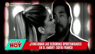 """Sofía Franco comenta sobre su relación con Álvaro Paz de la Barra: """"Tratando de arreglar las cosas"""""""