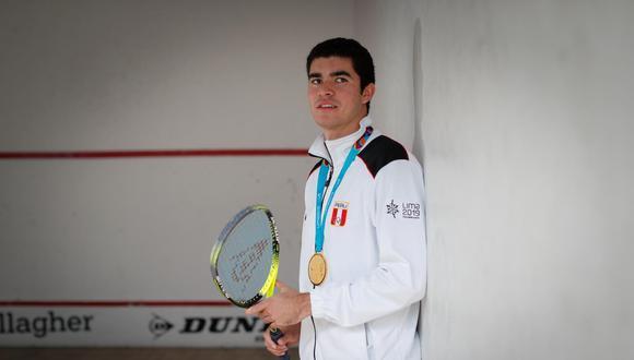 Diego Elías se mantiene en la octava casilla del ránking mundial del PSA World Tour. (Foto: Hugo Pérez / El Comercio)