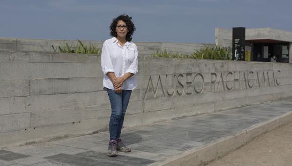 """La viceministra Leslie Urteaga considera que el santuario de Pachacamac podría """"quedar estrangulado"""" con el RIZ de Lurín. (Foto: Leandro Britto/GEC)"""