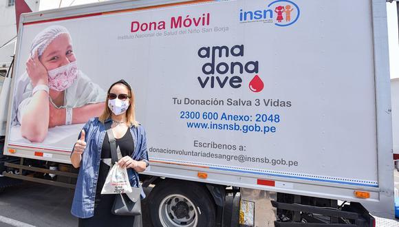 Marisol Aguirre, Kukuli Morante y Marina Gutiérrez se unen a campaña del INSN para donar sangre. (Foto: INSN)