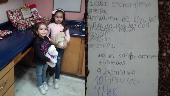 La carta a Santa de una niña mexicana que traspasó el muro entre EE. UU. y México