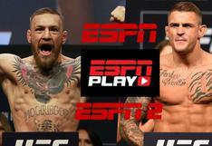 Ver ESPN en vivo: señal EN DIRECTO gratis, HOY McGregor-Poirier online