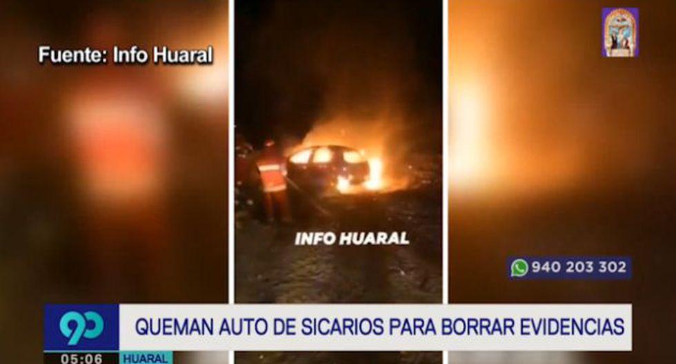 El triple asesinato ocurrió en el cruce de las calles Argentina con 3 de Octubre, en Huaral, cuando los tres hombres cenaban. (Latina)