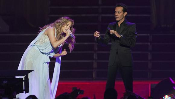 ¿Jennifer López le negó beso a Marc Anthony en pleno show?