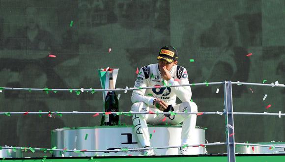 Pierra Gasly ganó en Monza su primera carrera. (Foto: AFP)