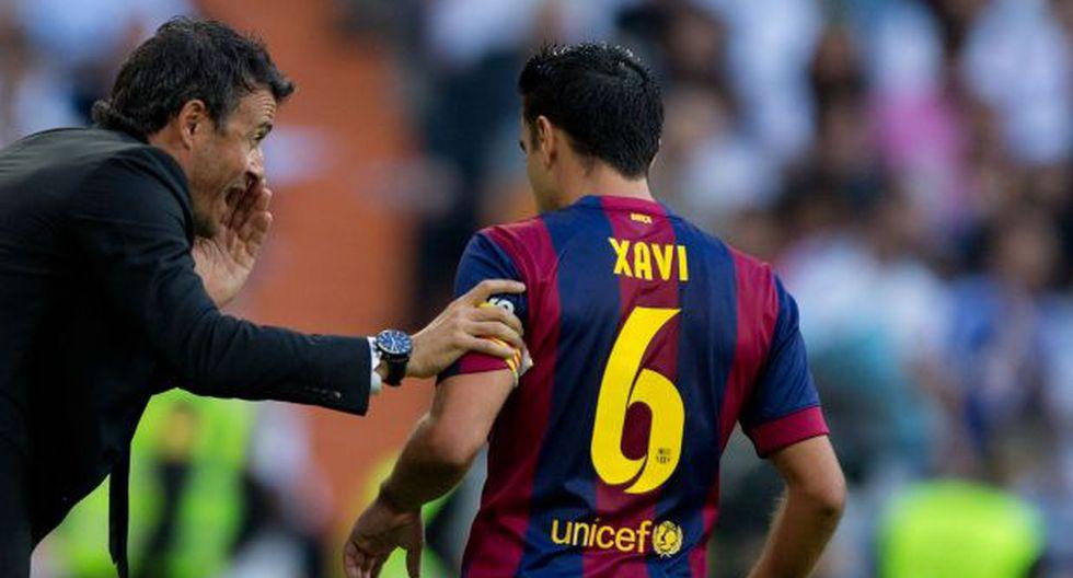 """Luis Enrique: """"Si Xavi tuviera 25 años, le renovaría 25 más"""""""