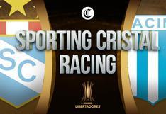 Cristal - Racing en vivo: canales tv y horarios para ver partido en directo por Copa Libertadores
