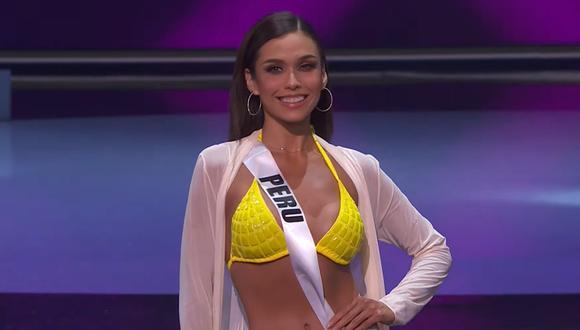 Miss Perú, la modelo Janick Maceta, en la competencia preliminar del Miss Universo. (Foto: Captura YouTube).