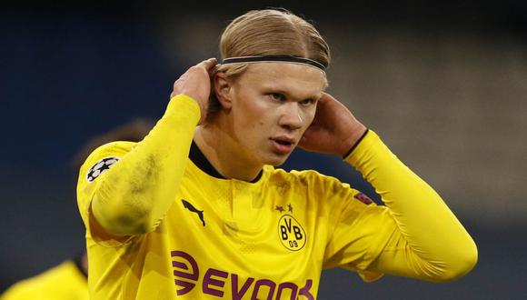 Haaland podría convertirse en el primer futbolista en ganar más de un millón y medio de euros semanales. (Foto: Reuters)