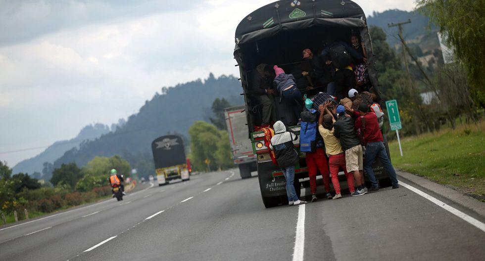 Migrantes venezolanos se dirigen a la frontera para regresar a su país. Foto: REUTERS/Luisa Gonzalez