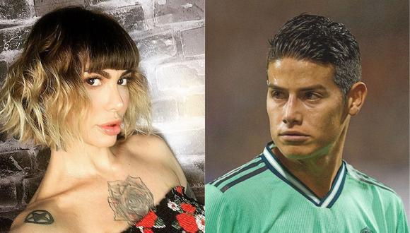 Angie Jibaja revela detalles de su cercanía con el futbolista James Rodríguez. (Foto: @jibajaangie/@jamesrodriguez10)
