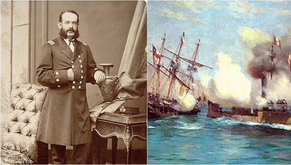 Combate de Angamos: A poco de empezar la batalla, una granada acabó con la vida de Miguel Grau, el 8 de octubre de 1879.