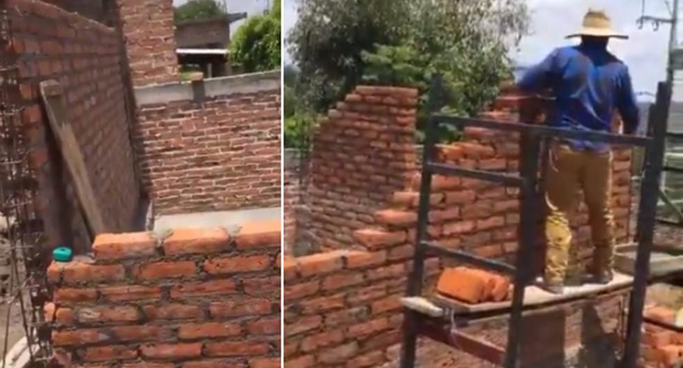 Foto 1 de 3 | El albañil se olvidó de la puerta a la hora de construir una habitación. | Foto: @momentoviral en Twitter. (Desliza hacia la izquierda para ver más fotos)