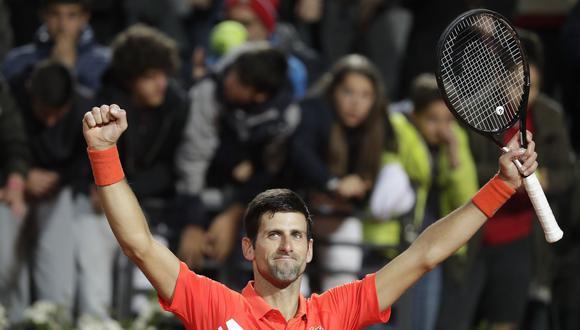 Djokovic venció a Schwartzman en un duro partido y enfrentará a Nadal en la final del Masters 1000 de Roma. (Foto: AP)