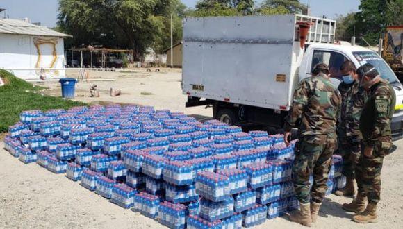 Piura: PNP interviene camión por transportar 4,815 botellas de lejía sin documentación legal