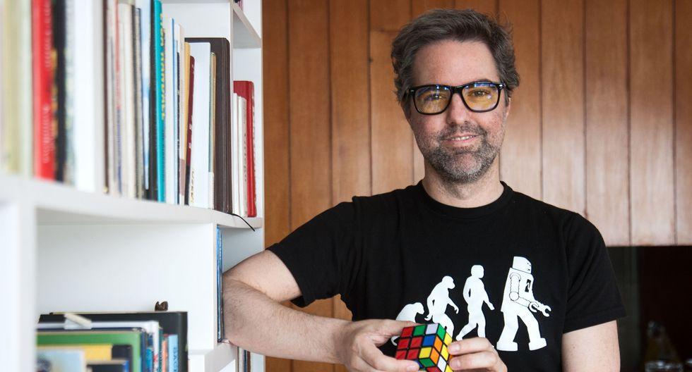 García-Belaunde (Lima, 1977) es un fervoroso impulsor del transhumanismo, movimiento que respalda el uso de la ciencia y la tecnología para mejorar las capacidades humanas. (Foto: Eduardo Cavero)