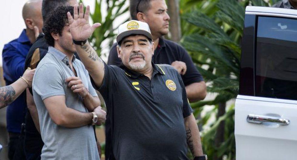 El saldo de Maradona como director técnico del club sinaloense fue de 30 partidos de liga dirigidos, de los cuales 17 fueron victorias, ocho empates y cinco derrotas. (Foto: AFP)