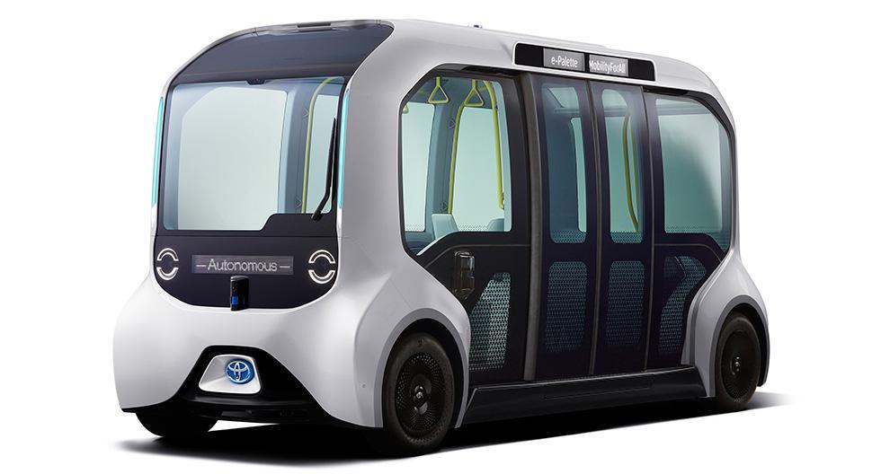 El Toyota e-Palette versión Tokio 2020 está diseñado para una conducción automatizada a baja velocidad, centrada en la seguridad. (Foto: Toyota)