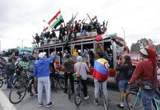 Caravana de indígenas entra a Bogotá con la expectativa de una reunión con el presidente Duque | FOTOS