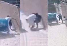 Piura: cámaras captan a delincuente lanzándose de mototaxi en movimiento para robar a menor   VIDEO