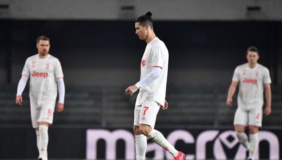 Cristiano Ronaldo se hizo presente en el marcador ante Hellas Verona, pero su equipo, Juventus, perdió 1-2 en el Estadio Marcantonio Bentegodi. | Foto: AFP