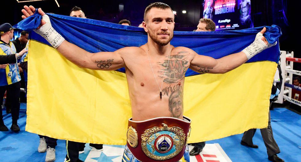 Lomachenko ganó a Rigondeaux por nocaut técnico y retuvo título. (Foto: AFP)