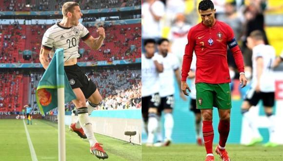 Robin Gosens amargó la tarde de Cristiano Ronaldo marcando un gol y dando dos asistencias en el Alemania 4-2 Portugal.
