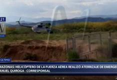 Amazonas: helicóptero de la Fuerza Aérea realizó aterrizaje de emergencia   VIDEO