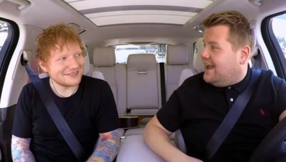Ed Sheeran es el primer invitado en la edición londinense de este segmento a cargo de James Corden. (Foto: YouTube)