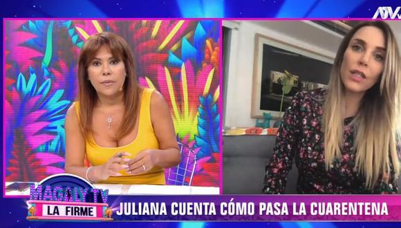 Juliana Oxenford habló de su media hermana en entrevista con Magaly Medina. (Foto: Captura ATV)