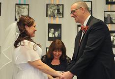 EE.UU.: Una pareja se casa tras perder 194 kilos de peso