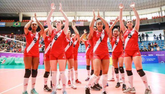 La selección peruana Sub 20. (Foto: FIVB)