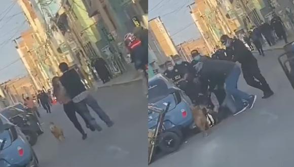 Incidente quedó registrado en video. (Foto: captura de pantalla | Facebook)